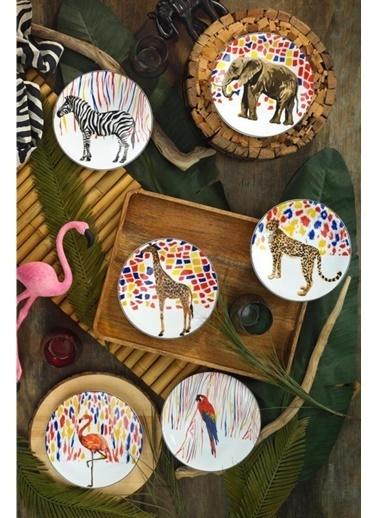 Kütahya Porselen Kütahya Porselen Karnaval 6 Parça Pasta Takımı Renkli